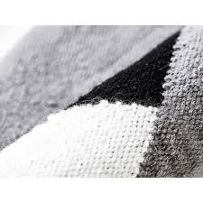 wool rug horizon black grey white