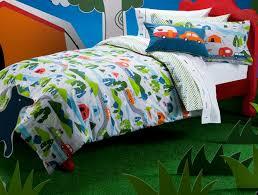 Image of dinosaur toddler bed duvet set