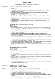 Manufacturing Test Engineer Sample Resume Manufacturing Test Engineer Resume Samples Velvet Jobs 20