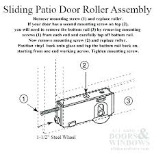 change rollers assembly changing rollers on sliding patio door