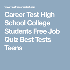 Career Assessment Test Free Pin On College Planning