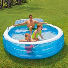 inflatable pool furniture. Inflatable Pool Furniture. Intex Iwalmart In Blue And White For Outdoor Furniture Ideas Y