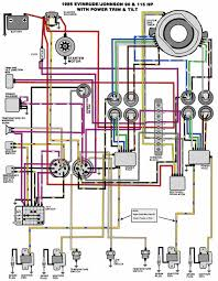 mastertech marine evinrude johnson outboard wiring diagrams v 4 90 115 hp 1985
