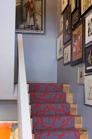 london contemporary stair runners with chevron area rugs staircase eclectic and red gray
