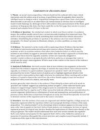 Components Of A Successful Essay 1 Thesis An Essays