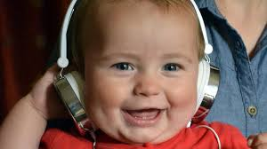 Image result for baby in headphones