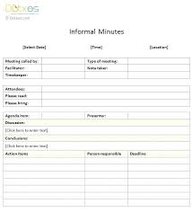 Meeting Minutes Template Excel Download Agenda Minute Free Best