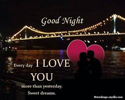 good night wishes for lover wordings