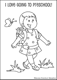 Small Picture Printable 63 Preschool Coloring Pages 7936 Preschool First Day