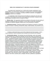 Confidentiality Agreement Free Template Adorable Business Confidentiality Agreement Template