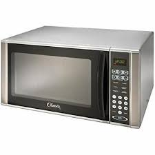 ft grey countertop microwave oven with stainless stee