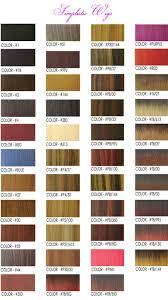 Color Chart Simplistic Wigs Toupees