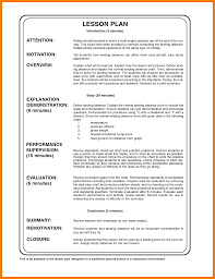 Lesson Plan Sample Training Lesson Plan Template Sample Format Elemental See Meanwhile 10