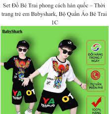 Set Đồ Bé Trai phong cách hàn quốc (98-99) – Thời trang trẻ em Babyshark,  Bộ Quần Áo Bé Trai 1C