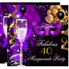Black And Purple Invitations Fabulous Purple Gold Black Masquerade Party Invitation