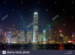 What Time Is The Light Show In Hong Kong Laser Light Show Hong Kong Island At Night Viewed Across