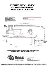 12 volt air compressor px07 bare boss air suspension shop boss px07 installation