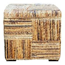 outdoor ball storage basket wicker ottoman coffee table inside ottomans with round rattan