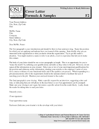 Fair Guidelines For A Resume Cover Letter With Additional Cover