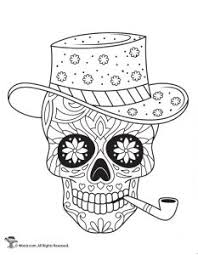 Included is a disney coco coloring sheet, a wonderful day of the dead story for kids, free for our printable for day of the dead skulls allows kids to use their creativity in design a beautiful calavera a highly decorated dia de los muertos skull printable celebrates the iconic imagery of the human. Day Of The Dead Adult Coloring Pages With Sugar Skulls Woo Jr Kids Activities
