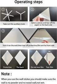 54 pcs 3d flexible mirror sheets self