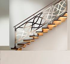 Contemporary Interior Design with Internal Stunning Staircase Railing  Ideas, Chrome Plated Railing Nickel Finish,