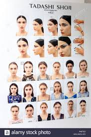 new york ny september 06 2018 a view of the makeup board for the tadashi shoji spring summer 2019 fashion show during new york fashion week women