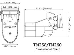 airmar tm260 10f 1kw 50 200 khz transom mount transducer furuno 10 pin brochure specifications · installation instructions
