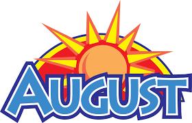 August Theme Calendar August Calendar And Newsletter