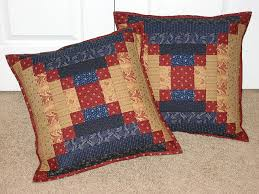 80 best Courthouse QUILTS images on Pinterest | Log houses, Quilt ... & Quilted Courthouse Step Pillows Adamdwight.com