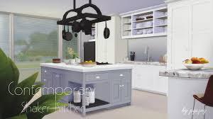 Pyszny Design Sims 4 Pyszny Design Contemporary Shaker Kitchen Sims 4 Kitchen