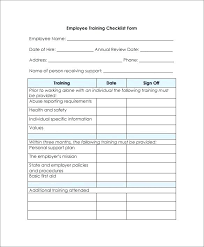 Employee Checklist Template Templates From Training 7