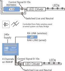 rako rdf800 c ceiling light dimmer 0 10v fluorescent rako wireless rako wireless lighting control 0 10v for drivers requiring a 0 10v control input