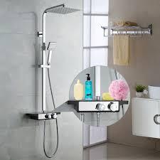 Details Zu Duschsystem Regendusche Duschset Duscharmatur Kopfbrause Handbrause Mit Ablage