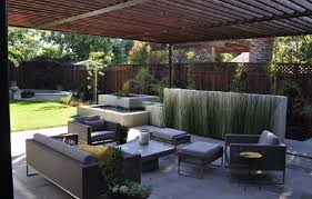 modern concrete patio. Various Options Of Concrete Patio Designs : Modern With Redwood And Steel Arbor I