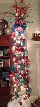 Turquoise & Red Pencil Christmas Tree: