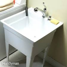 utility sink faucet upgrade your laundry pull down sprayer