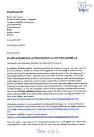 Scanned Copy Of January 28th 2017 Registered Letter To Northern