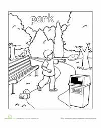 Park Coloring Page Educationcom Coloring Pages Coloring Pages