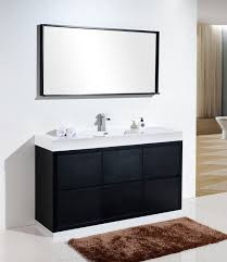 free standing bathroom cabinets with sink. bliss 60\u2033 single sink black free standing modern bathroom vanity vanities, cabinets with