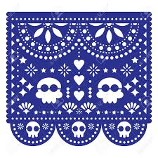 Papel Picado Designs For Day Of The Dead Halloween Day Of The Dead Design With Skulls Mexican Papel