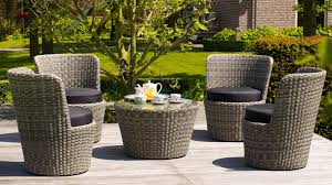 Furniture Greywash Rattan Stacking Artic Outdoor Lounge Set With