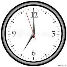 Die angezeigte zeit wird von einem. Uhrzeit 7 Am