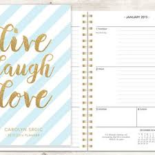 weekly student planners 2015 planner 2015 2016 calendar from posypaper on etsy