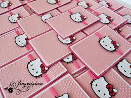 hello kitty birthday party baby shower invitations jingvitations image