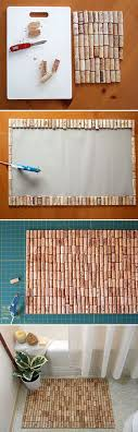 easy wine cork craft ideas for the home diy wine cork bathmat diy projects