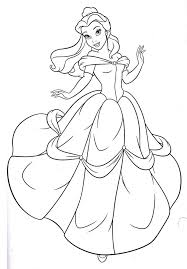 Small Picture Belle Disney Coloring Pages Awesome Coloring Belle Disney Coloring