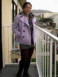 lavender peacoat old navy