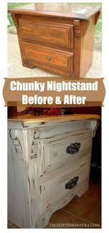 how to antique white furniture. Antiqued White Chunky Nightstand ~ Before \u0026 After. From Facelift Furniture\u0027s How To Antique Furniture M