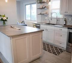 Image Wilsonart Laminate Soapstone Sequoia As Kitchen Countertops That Are Affordable Penny Tile Marble Backsplash And White Cabinets With Tile Floor Stainless Steel Appliances Pinterest The New Era Of Laminate Countertops And Why They Rock Kitchen